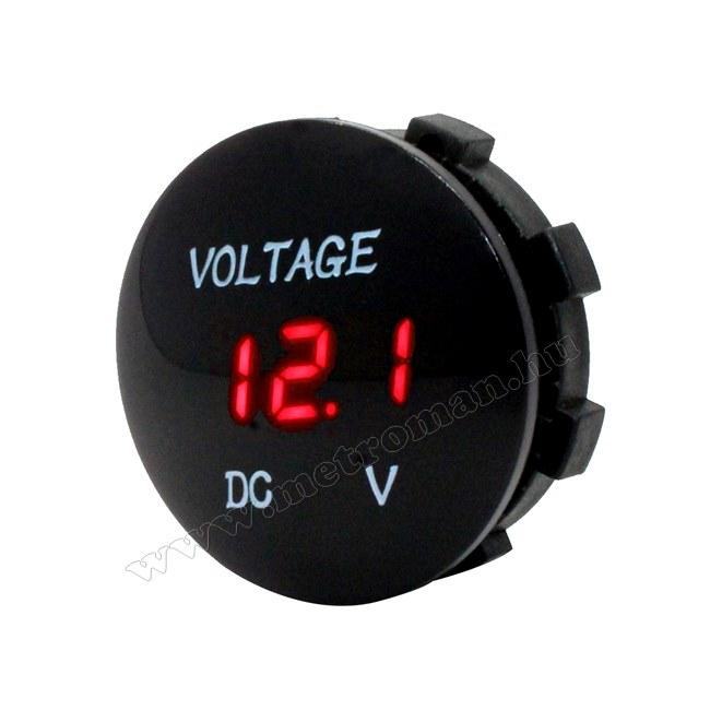 Digitális  feszültségmérő, vízálló, 3-30 Volt DC, Mlogic M8178R
