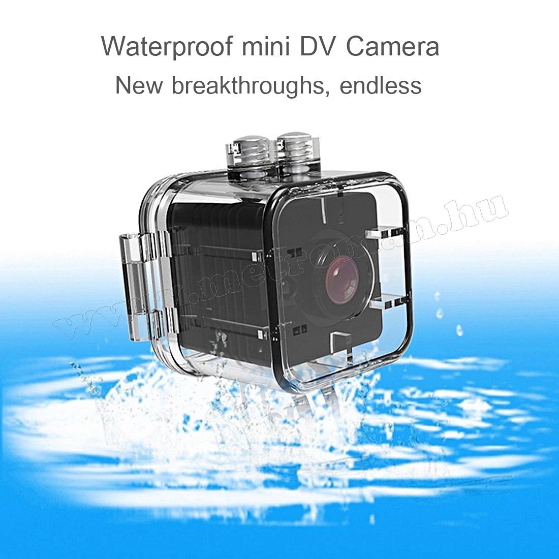 Ultra mini digitális SD video kamera vízálló tokkal SQ12 FHD