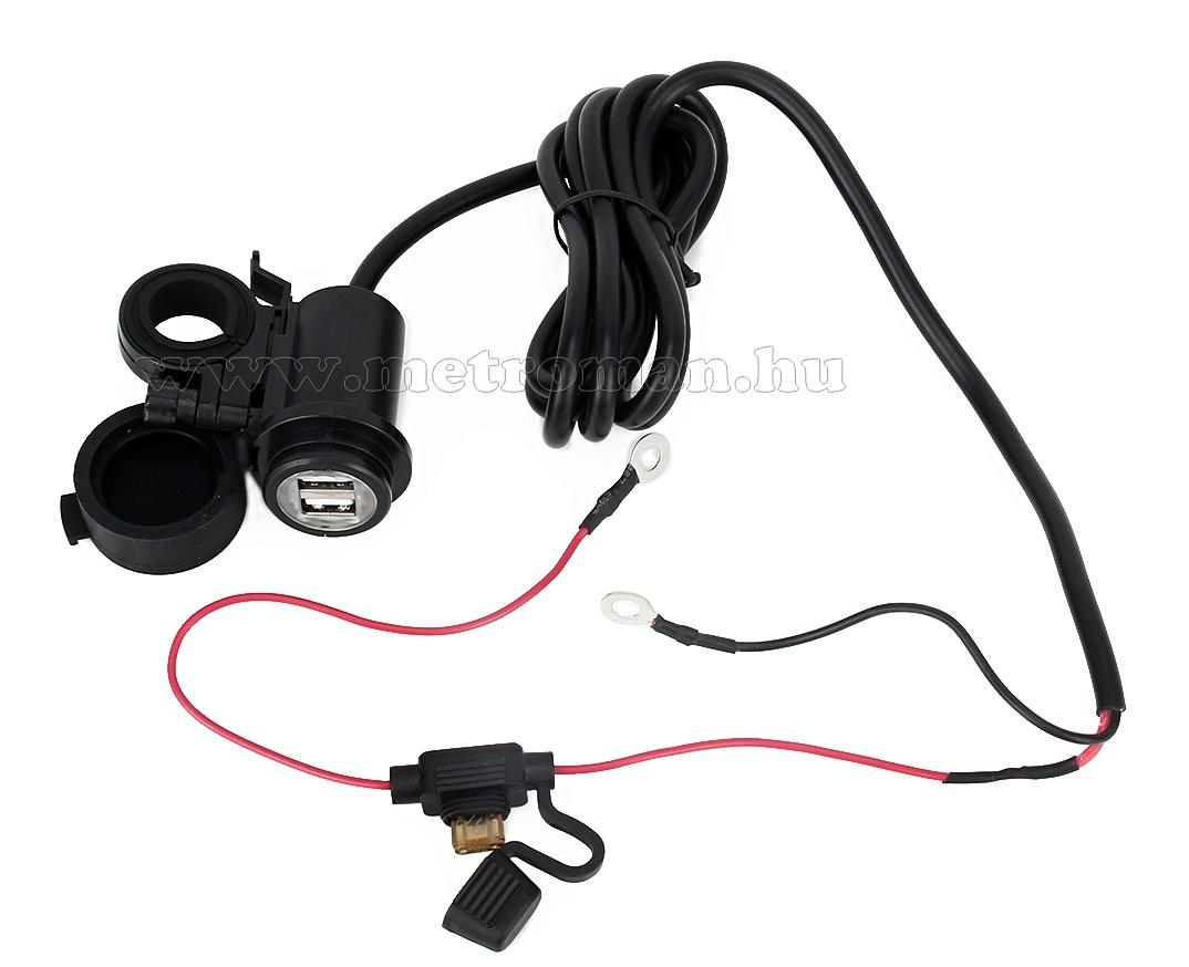 Motorkerékpár USB töltő aljzat vízálló MM3877