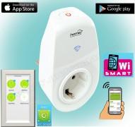 Android iPhone mobiltelefonnal távirányítható Wifi okos konnektor NVS 1 PRO Smart